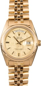 Rolex 1803 Men's Gold Day-Date Jubilee Bracelet