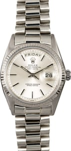 Vintage Rolex Day-Date 1803 White Gold President