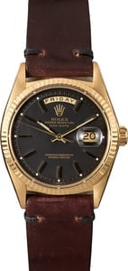 Rolex Day-Date 1803 Yellow Gold President Black Dial