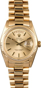 Rolex President 1803 Champagne Index Dial