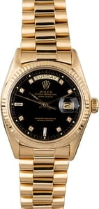 Rolex President 1803 Black Diamond Dial