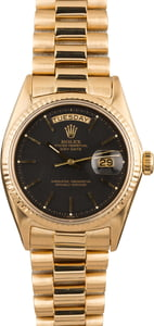 Pre Owned Rolex President 1803 Black Dial