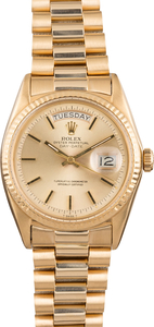 PreOwned Rolex President 1803 Champagne 'Pie Pan' Dial