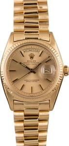 Vintage Rolex President 1803 Champagne Index Dial