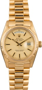 Pre Owned Rolex President 1803 Champagne Dial