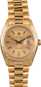 Pre-Owned Rolex President 1803 Champagne Dial Watch