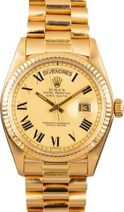 Authentic Rolex President 1803 Yellow Gold