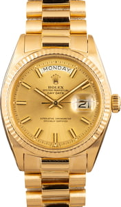 Rolex 1803 Men's Gold Day-Date President