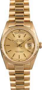 Men's Rolex Presidential 18038 Day-Date Yellow Gold