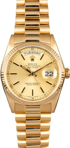 Champagne Dial Rolex President 18038