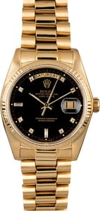 Rolex Day-Date 18038 Black Diamond Dial