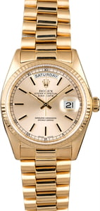 Used Rolex President 18038 Yellow Gold Watch