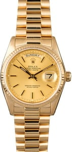 Rolex President 18038 Champagne Dial 36MM Day-Date