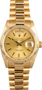 Used Rolex Day-Date 18038 18K Yellow Gold