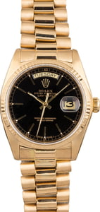 Used Rolex President 18038 Day-Date Black Dial