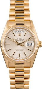 Used Rolex DayDate 18038 Yellow Gold Men's Watch