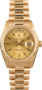 Pre Owned Rolex President 18038 Champagne