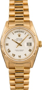 Pre-Owned Rolex Day-Date President 18038 White Roman