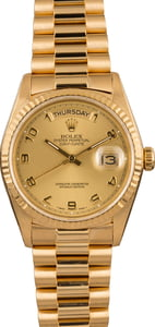 Pre-Owned Rolex President Day-Date 18038 Fluted Bezel