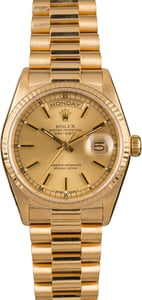 Pre-Owned Rolex Day-Date 18038 President 18K Yellow Gold