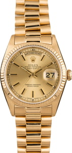 Pre-Owned Rolex Day-Date 18038 Gold President 18K