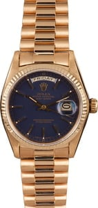 Used Rolex 18038 Day-Date 18K President Blue Dial