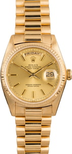 Used Rolex Day-Date 18038 President 18K Yellow Gold