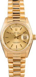 Rolex President 18038 Yellow Gold 100% Authentic