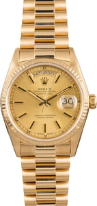 Pre Owned Rolex President 18038 Champagne Dial