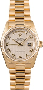 Used Rolex President 18038 Ivory Pyramid Dial