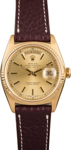 Used Rolex Day-Date 18038 Leather Bracelet