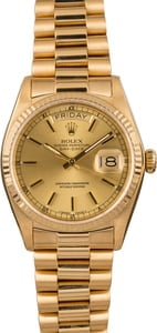 Used Rolex President 18038 Champagne
