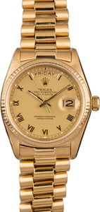 Used Rolex President 18038 Champagne Roman Dial