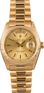 Pre-Owned Rolex 18038 President 18k Yellow Gold