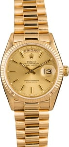 Pre-Owned Rolex President 18038 Index Dial