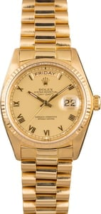 Pre-Owned Rolex President 18038 Day-Date