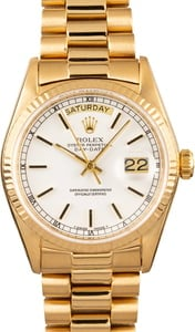 Rolex Day-Date Presidential 18038 White Dial