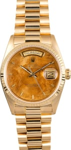 Rolex President 18038 Exotic Wood Dial