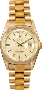 Rolex President 1807 Barked Finish