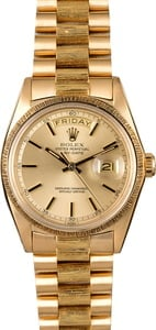 Rolex President 1807 Champagne Pie Pan Dial