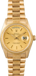 Used Rolex President 18078 with Barked Bezel
