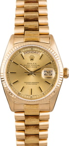 Rolex President 18078 Champagne Dial