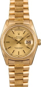 Used Rolex President 18078 Bark Finish