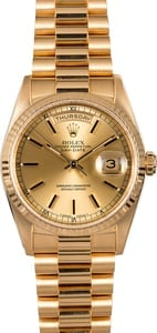 Rolex President 18238 18k Yellow Gold