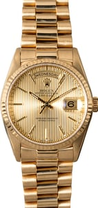 Men's Rolex President 18238 Champagne 18K Yellow Gold