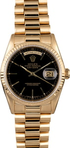 Rolex President 18238 Black Index Dial