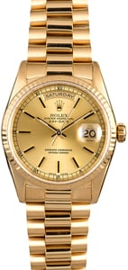 Rolex President 18238 Champagne Index Dial