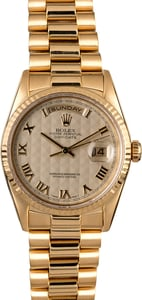 Men's Rolex Presidential 18238 Ivory Pyramid Dial