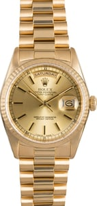18K Yellow Gold Rolex President 18238