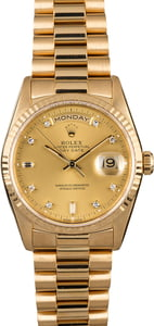 Rolex President 18238 Diamonds